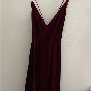 Red Holiday Christmas Gown Dress
